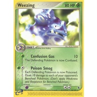Weezing 24/109 EX Ruby and Sapphire Rare Pokemon Card NEAR MINT TCG
