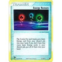 Energy Restore 81/109 EX Ruby and Sapphire Reverse Holo Uncommon Trainer Pokemon Card NEAR MINT TCG