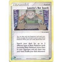 Lanette's Net Search 87/100 EX Sandstorm Reverse Holo Uncommon Trainer Pokemon Card NEAR MINT TCG