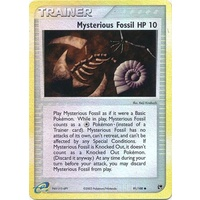 Mysterious Fossil 91/100 EX Sandstorm Reverse Holo Common Trainer Pokemon Card NEAR MINT TCG