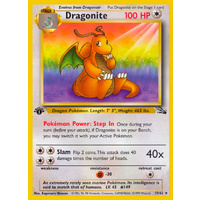 Dragonite 19/62 Fossil Set 1st Edition Rare Pokemon Card NEAR MINT TCG