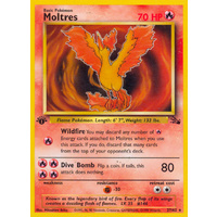 Moltres 27/62 Fossil Set 1st Edition Rare Pokemon Card NEAR MINT TCG