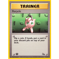 Recycle 61/62 Fossil Set 1st Edition Common Trainer Pokemon Card NEAR MINT TCG