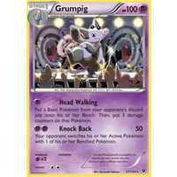 Grumpig 31/124 XY Fates Collide Rare Pokemon Card NEAR MINT TCG