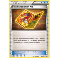 Fossil Excavation Kit 101/124 XY Fates Collide Uncommon Trainer Pokemon Card NEAR MINT TCG