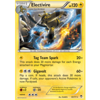 Electivire 30/111 XY Furious Fists Rare Pokemon Card NEAR MINT TCG