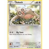 Slakoth 81/111 XY Furious Fists Common Pokemon Card NEAR MINT TCG