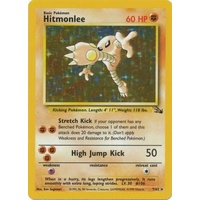 Hitmonlee 7/62 Fossil Set Unlimited Holo Rare Pokemon Card NEAR MINT TCG