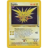 Zapdos 15/62 Fossil Set Unlimited Holo Rare Pokemon Card NEAR MINT TCG