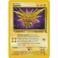 Zapdos 30/62 Fossil Set Unlimited Rare Pokemon Card NEAR MINT TCG