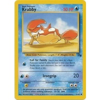 Krabby 51/62 Fossil Set Unlimited Common Pokemon Card NEAR MINT TCG