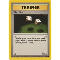Gambler 60/62 Fossil Set Unlimited Common Trainer Pokemon Card NEAR MINT TCG