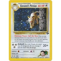 LIGHTLY PLAYED Giovanni's Persian 8/132 Gym Challenge Unlimited Holo Rare Pokemon Card TCG