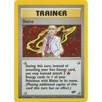 Blaine 17/132 Gym Challenge Unlimited Holo Rare Trainer Pokemon Card NEAR MINT TCG