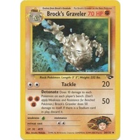 Brock's Graveler 34/132 Gym Challenge Unlimited Uncommon Pokemon Card NEAR MINT TCG