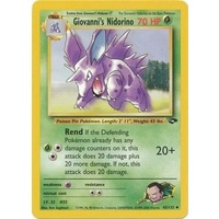 Giovanni's Nidorino 45/132 Gym Challenge Unlimited Uncommon Pokemon Card NEAR MINT TCG