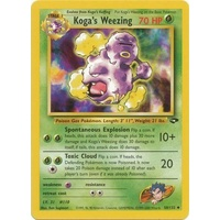 Koga's Weezing 50/132 Gym Challenge Unlimited Uncommon Pokemon Card NEAR MINT TCG