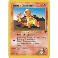 Blaine's Charmander 60/132 Gym Challenge Unlimited Common Pokemon Card NEAR MINT TCG