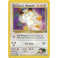 Giovanni's Meowth 74/132 Gym Challenge Unlimited Common Pokemon Card NEAR MINT TCG
