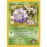 Koga's Koffing 79/132 Gym Challenge Unlimited Common Pokemon Card NEAR MINT TCG