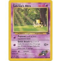 Sabrina's Abra 94/132 Gym Challenge Unlimited Common Pokemon Card NEAR MINT TCG