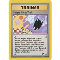 Koga's Ninja Trick 115/132 Gym Challenge Unlimited Uncommon Trainer Pokemon Card NEAR MINT TCG