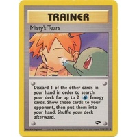 Misty's Tears 118/132 Gym Challenge Unlimited Uncommon Trainer Pokemon Card NEAR MINT TCG