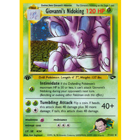 Giovanni's Nidoking 7/132 Gym Challenge 1st Edition Holo Rare Pokemon Card NEAR MINT TCG