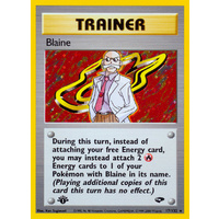 Blaine 17/132 Gym Challenge 1st Edition Holo Rare Trainer Pokemon Card NEAR MINT TCG