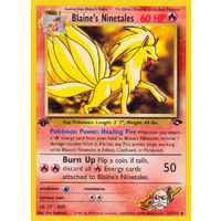 Blaine's Ninetales 21/132 Gym Challenge 1st Edition Rare Pokemon Card NEAR MINT TCG