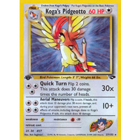 Koga's Pidgeotto 27/132 Gym Challenge 1st Edition Rare Pokemon Card NEAR MINT TCG