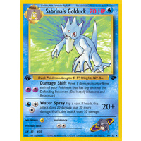 Sabrina's Golduck 30/132 Gym Challenge 1st Edition Rare Pokemon Card NEAR MINT TCG