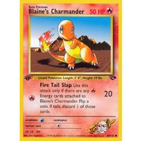 Blaine's Charmander 60/132 Gym Challenge 1st Edition Common Pokemon Card NEAR MINT TCG
