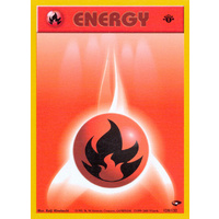 Fire Energy 128/132 Gym Challenge 1st Edition Common Energy Pokemon Card NEAR MINT TCG