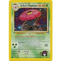 LIGHTLY PLAYED Erika's Vileplume 5/132 Gym Heroes Unlimited Holo Rare Pokemon Card TCG