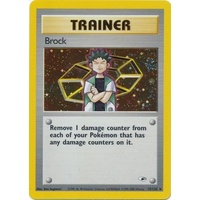 Brock 15/132 Gym Heroes Unlimited Holo Rare Pokemon Card NEAR MINT TCG