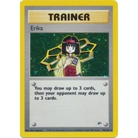 Erika 16/132 Gym Heroes Unlimited Holo Rare Pokemon Card NEAR MINT TCG