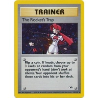 LIGHTLY PLAYED The Rocket's Trap 19/132 Gym Heroes Unlimited Holo Rare Pokemon Card TCG