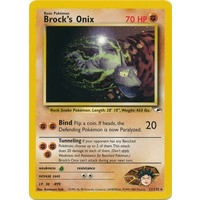 Brock's Onix 21/132 Gym Heroes Unlimited Rare Pokemon Card NEAR MINT TCG