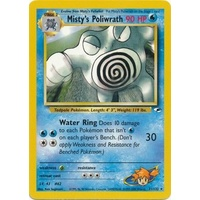 Misty's Poliwrath 31/132 Gym Heroes Unlimited Rare Pokemon Card NEAR MINT TCG
