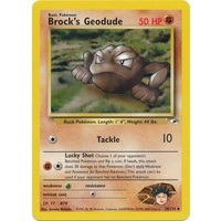 Brock's Geodude 38/132 Gym Heroes Unlimited Uncommon Pokemon Card NEAR MINT TCG