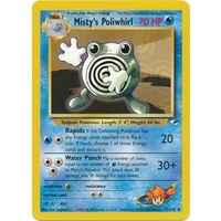 Misty's Poliwhirl 53/132 Gym Heroes Unlimited Uncommon Pokemon Card NEAR MINT TCG