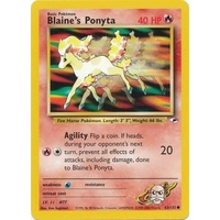 Blaine's Ponyta 63/132 Gym Heroes Unlimited Common Pokemon Card NEAR MINT TCG