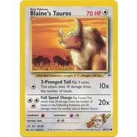 Blaine's Taruos 64/132 Gym Heroes Unlimited Common Pokemon Card NEAR MINT TCG