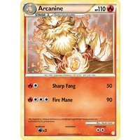 Arcanine 1/123 HS Base Set Holo Rare Pokemon Card NEAR MINT TCG