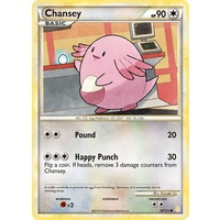 Chansey 58/123 HS Base Set Common Pokemon Card NEAR MINT TCG