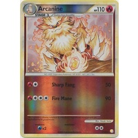 Arcanine 1/123 HS Base Set Reverse Holo Rare Pokemon Card NEAR MINT TCG