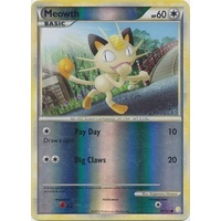 Meowth 75/123 HS Base Set Reverse Holo Common Pokemon Card NEAR MINT TCG