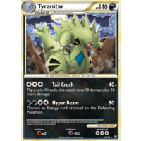 Tyranitar 26/95 HS Unleashed Rare Pokemon Card NEAR MINT TCG