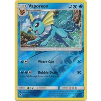 Vaporeon 18/68 SM Hidden Fates Reverse Holo Rare Pokemon Card NEAR MINT TCG